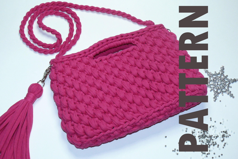 Crochet Bag Pattern Handbag Crochet Tote Pattern Crossbody Etsy