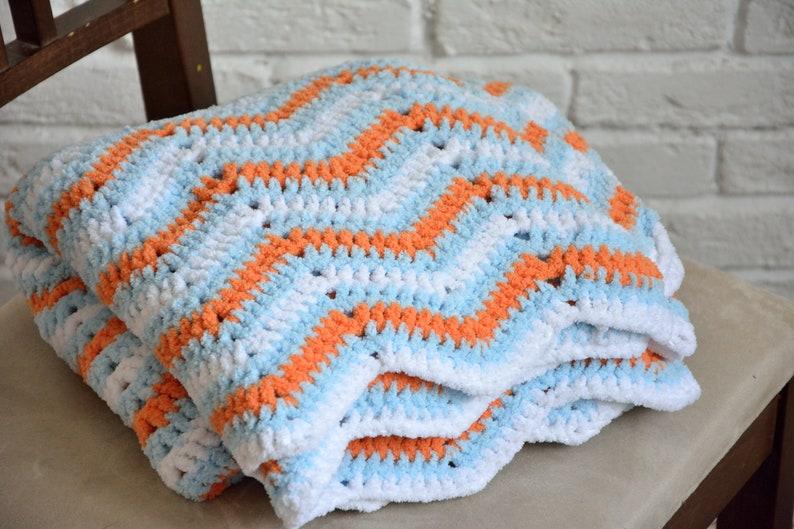 Crochet Pattern Chevron Blanket Crochet Pattern Crochet Etsy