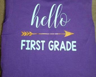 Hello First Grade Tee