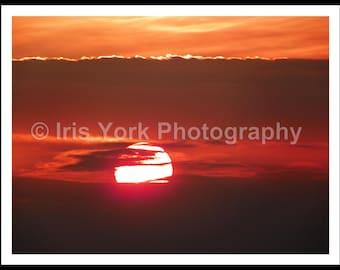 Orange Sunsets, Sunset Photography, Landscape Photo, Nature Print, Wall Art