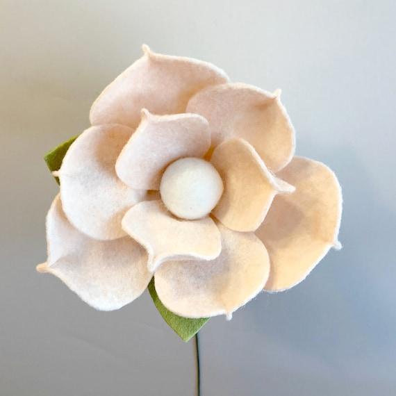Magnolia Flower Magnolia Felt Flower Magnolia Flower Etsy