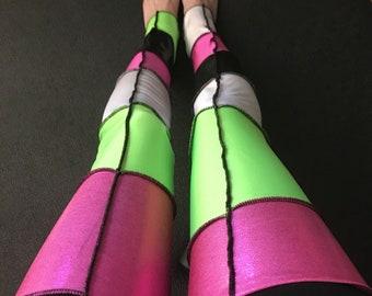 552ed2e52 Trixy Xchange - Spandex Leg Warmers Nylon Leggings Patchwork Thigh Highs  Cyber Punk Socks Psy Clothing Burning Man Clothes Otk Knee Socks