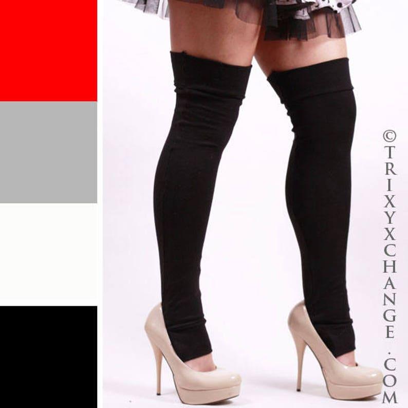 91ae19064 TRIXY XCHANGE Cosplay Leggings Costume Tights Black Knee Socks