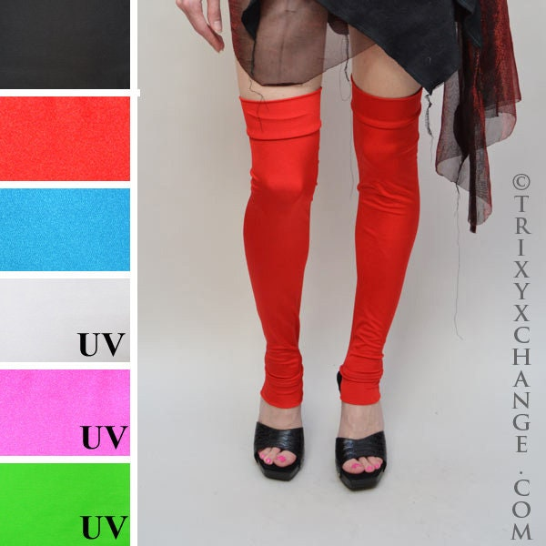 Spats, Gaiters, Puttees – Vintage Shoes Covers Trixy Xchange - Red Pants Leggings Leg Warmers Black Boot Covers Blue Spandex White Pink Spats Green Knee Socks Otk $32.00 AT vintagedancer.com
