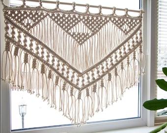 Macrame Wall Hanging, Macrame Curtain, Macrame Window Curtain, Macrame Wedding Backdrop, Window Curtains, Boho Curtain, Boho Wall Hanging
