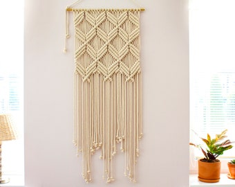 Large Macrame Wall Hanging, Macrame Wall Art, Woven Wall Hanging, Boho Wall Decor, Wall Tapestry, Modern Macrame, Macrame Wall Decor