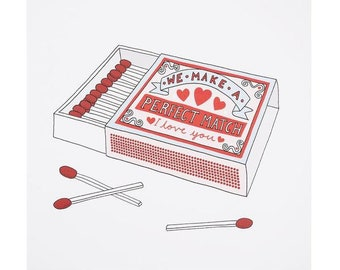 "Central 23 Love Card ""Matchbox Card"""
