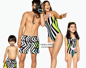 dd80787175 Matching Swimsuit Family, Matching Kids Swimwear, Matching Mom And Dad  Outfit, Flamingo Swimwear, Fathers Gift, Vacation Wear, Cruise Wear