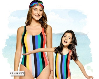 d2eddf42d9f17 Matching Mother Daughter Swimsuit
