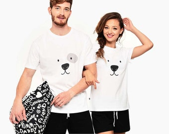 Couple Pjs, Polar Bear Pajamas, Matching Pajamas, Couple Pajamas, Printed Pajamas, Couple Sleepwear,  Cute Pajamas, Mr Mrs Outfit Christmas