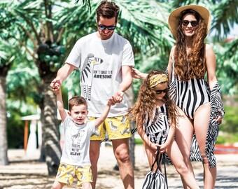 529bbfafb2 Family Matching Swimwear, Reversible Bodysuit, Honeymoon Swimwear, Family  Swimsuits, Beach Wedding, One Piece Swimsuit, Beach Wear Swimwear