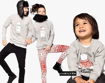 Christmas Sweaters, Matching Family Outfit, Mama Bear, Christmas Pullovers, Matching Family Set,Family Sweatshirts,Matching Christmas Outfit