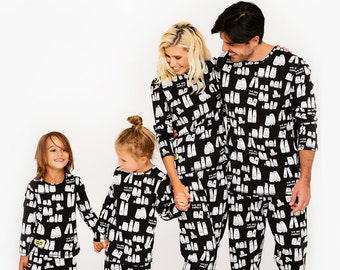 Pajamas For Family, Family Outfit, Family Pjs, Gift For Family, Mr And Mrs Pajamas, Family Jammies, Gift From Family, Sleep Set, Halloween