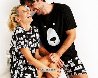 Matching Couple Pajamas, Couple Nightgown, Matching Bedgown, Couple Pajamas, Matching Couple Outfit, Couple Pjs, Couple Jammies,Husband Gift