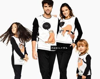 dd3eb2d69b Sloth Pajamas, Matching Family Pajamas, Couple Pajamas, Matching Pajamas  Outfit, Sloth Shirt, Matching Family, Couple Gift, Sleepwear