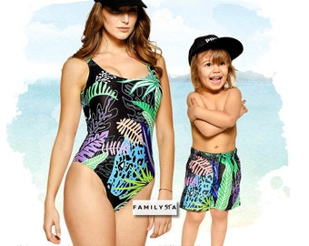 5558e84b0794b Matching Mommy And Me Swimsuit, Matching Mother Daughter Swimsuit, Floral  Swimwear, Tropical Swimsuit, Women Bathing Suit, Girl Swimsuit