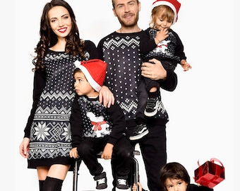 matching christmas outfit matching clothing family matching set black outfit matching kid outfitfamily matching clothingchristmas gift