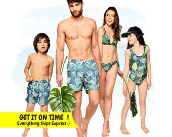 a10696d0dc Family Matching Swimsuits, Tropical Swimsuits, Couple Matching Swimwear, Matching  Family Bathing Suits, Resort Wear, Family Swimwear