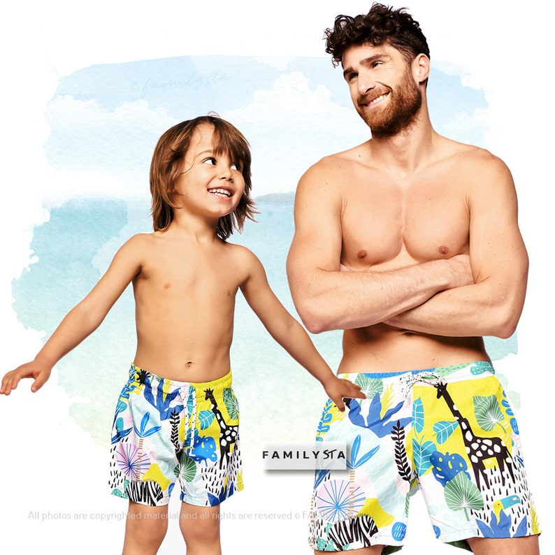 74c9793cb8 Matching Father And Son Swimwear Swimming Trunks Summer | Etsy