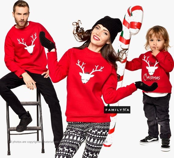 Matching Family Christmas Outfits.Matching Christmas Sweaters Matching Family Sweaters Christmas Outfit Red Sweaters Holiday Sweaters Christmas Wear Christmas Clothes