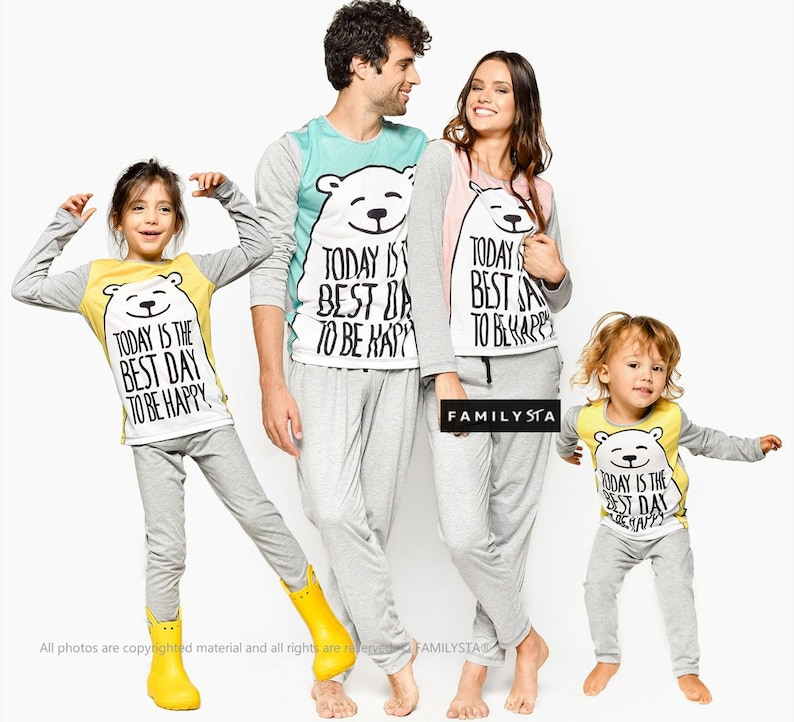 a42eda5c334a Family Pajamas Funny Bear Pajamas Matching Family Pajamas