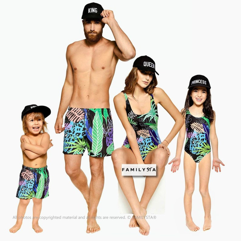 dcc792ffba Tropical Swimsuit Family Matching Swimsuit One Piece