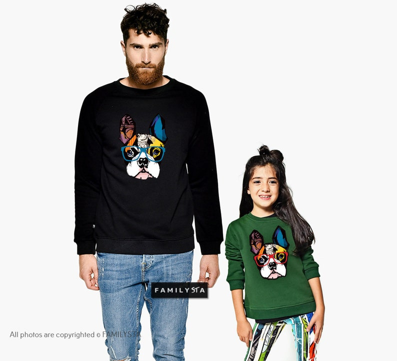 Matching Dog Blouses Daddy And Me Outfit Matching Green Sweatshirts Matching Funny Sweatshirts Matching Father And Daughter Set