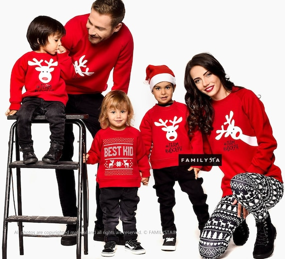 Matching Christmas Sweaters Matching Outfit Red Sweatshirts Etsy