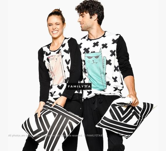 2ae32f6eac Family Pajamas Couple Pajamas His And Her Matching Couple