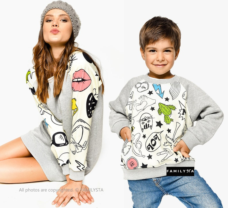 Matching Mother Son Sweatshirt Set Of 2 Mommy And Me  cbf51d023