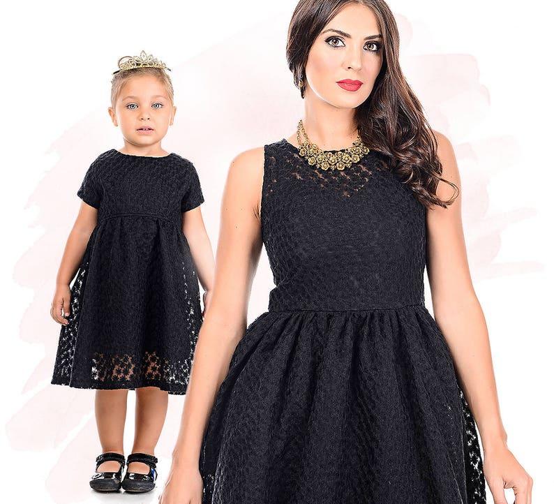 d69d37b509a82 Mom and Me Dress Kids Fall Little Black Dress Formal Dress | Etsy