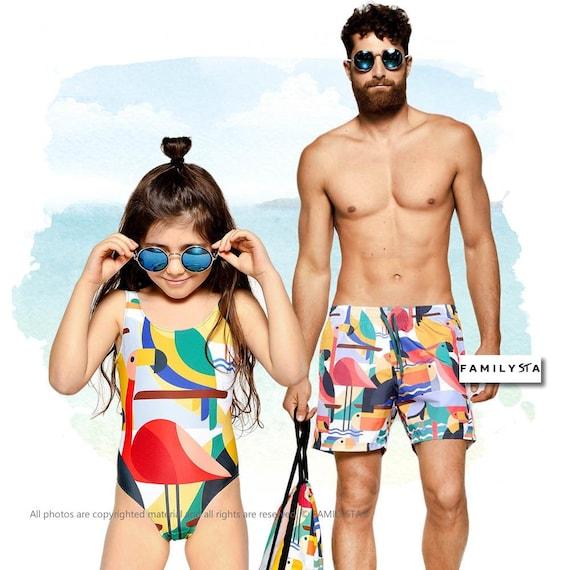 Papa und mir Badeanzug passende Vater-Tochter-Badeanzug   Etsy 51f36afc5f