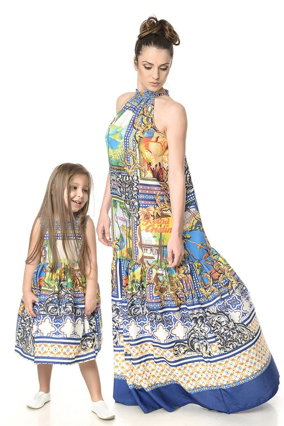 Dress Me Dress Dresses Plus Tropical Summer Maxi Dress Matching Mommys Dress Size Daughter Mother Girl And Dress Mommy And Matching wxpxO0qFH