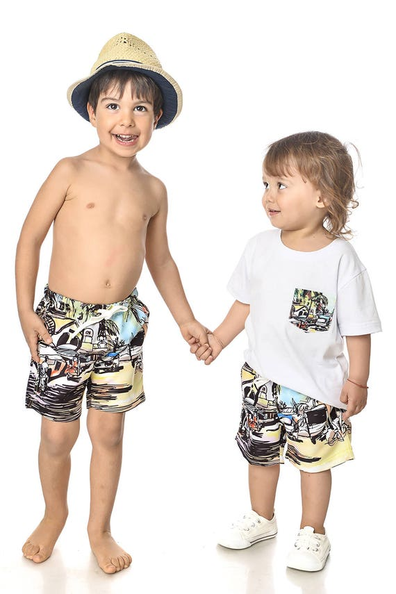 Mommy Tropical Clothing Swimsuit Outfit Son And Me Mom Mother Matching Outfit And Matching Son Tropical And Dress Matching Shorts dqBFzd