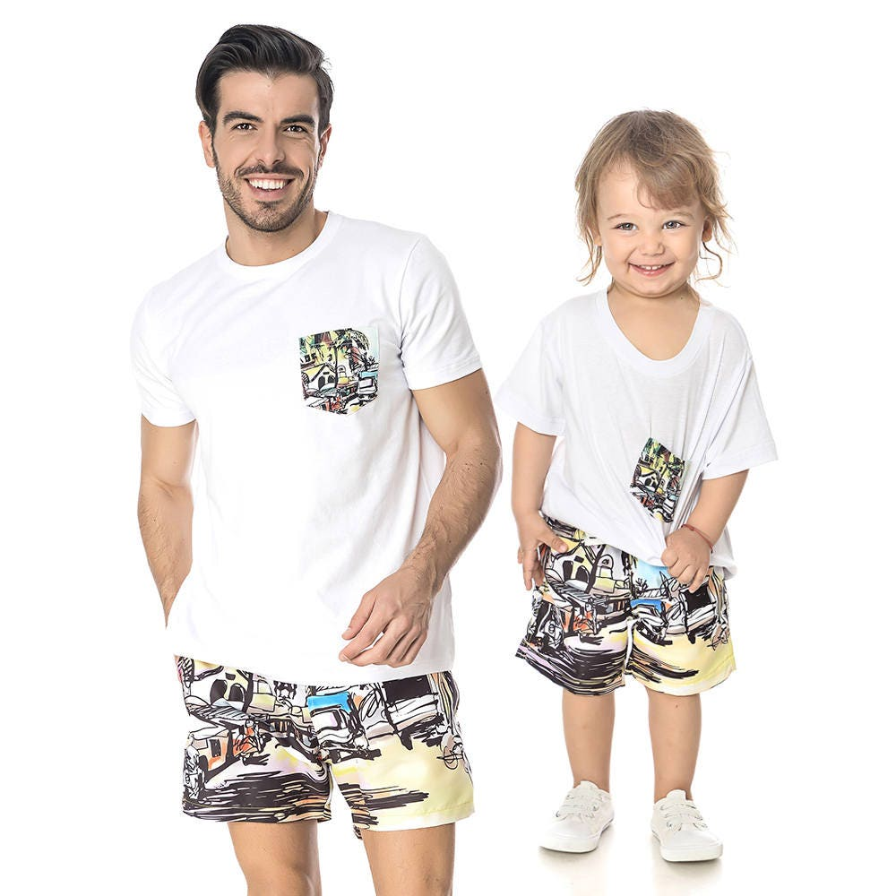 p re et fils correspondant tops t shirts assortis t shirt. Black Bedroom Furniture Sets. Home Design Ideas