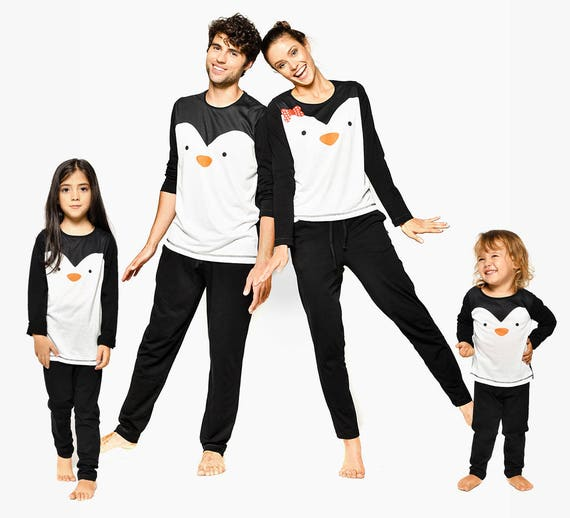 Matching Father Couple Outfit Set Matching And Family Gift Couple And Couple Matching Dad Clothing Pajamas Pajamas Penguin Mother Mom IqXEWv