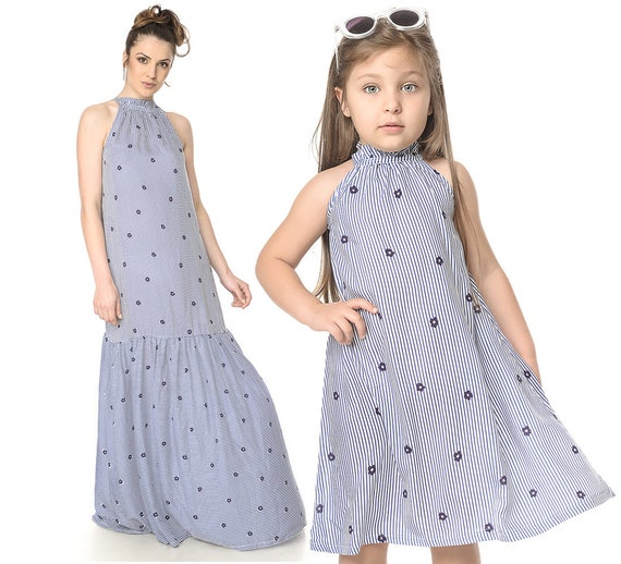 Mother Daughter Dress, Summer Dress, Set Of 2, Matching Mommys Girl Dress, Plus Size Maxi Dress, Party Matching Dress, Mom And Me Outfit