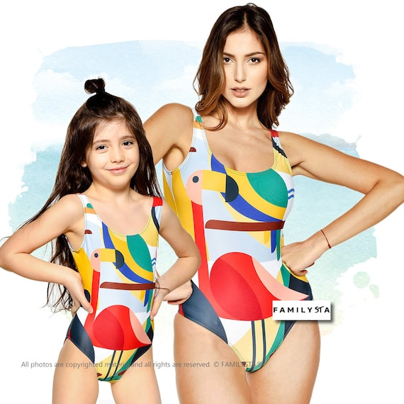 a3e7211fee Matching Swimwear Mommy And Me Matching Swimsuit Colorful