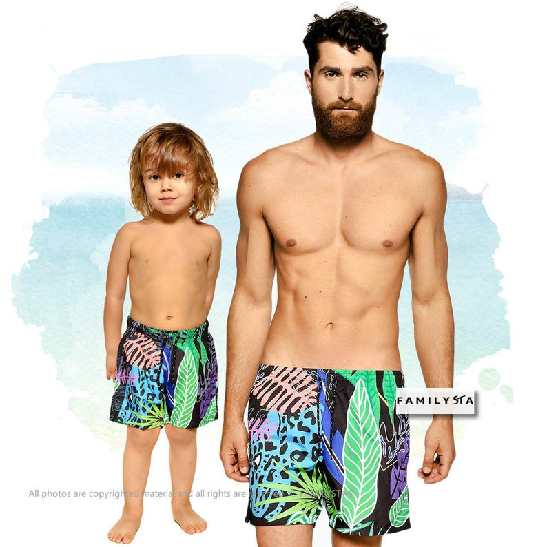 82f47bcac3 Father And Son Matching Swimsuit Daddy And Me Matching Mens | Etsy