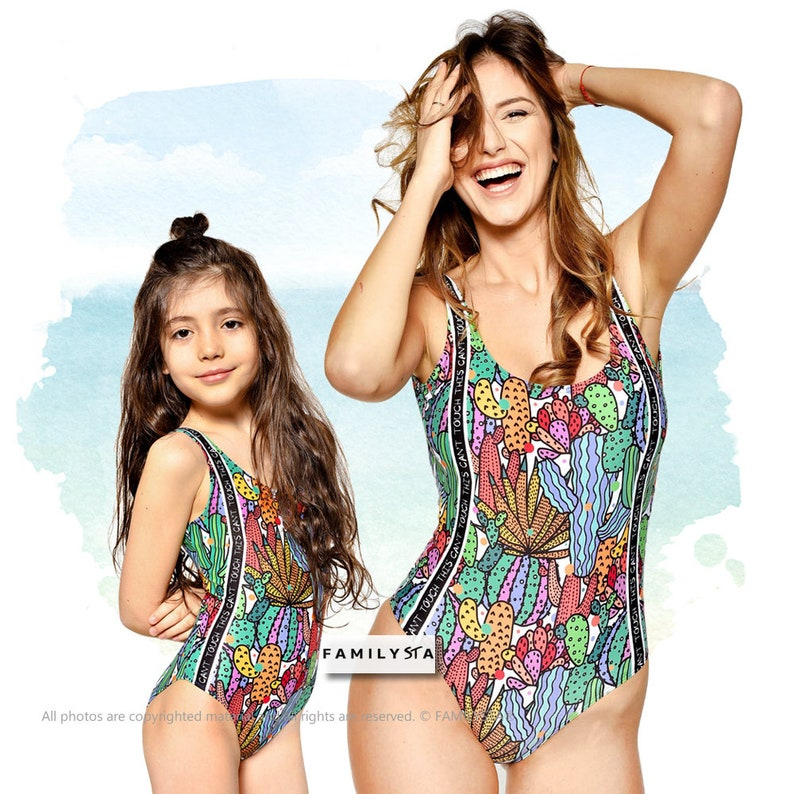 6c532a3426 One Piece Swimsuit Matching Mother And Daughter Swimsuit | Etsy