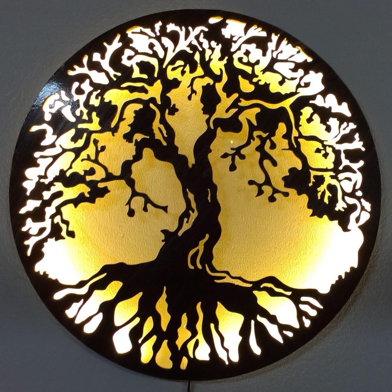 Tree Of Life Metal Art Metal Art Wall Lamp with LED lights   Etsy