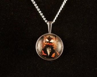 Halloween Haunted Pumpkin Necklace