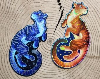 Space Tiger Vinyl Stickers