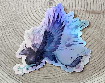 Space Gryphon - Holographic Vinyl Sticker