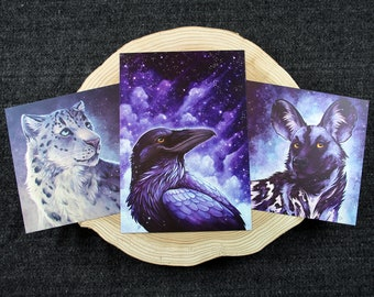 Set of 3 A5 Pearlescent Prints
