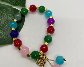 Bloom with Chika Rainbow Beaded Bracelet