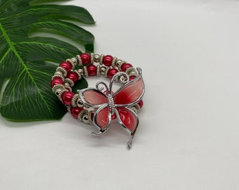 Bloom with Chika Red Butterfly Bracelet