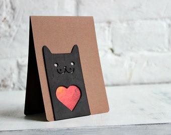 Greeting Card Cat Love Romantic Cards Valentine Say I You Boyfriend Gift Girlfriend