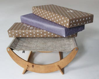 Gifts for cats - New Moon Cat Bed (Canvas). Gifts for cat lovers, Christmas gifts for cat lovers, Kitten gifts, Unique gifts for cat lovers.