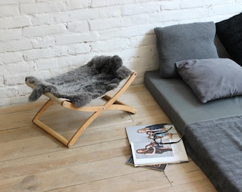 Cat hammock - X cat bed (Lapin). Cat furniture, cat beds, cat hammock bed, pet beds, pet furniture, gift for cat lover, pet gifts, cat gift